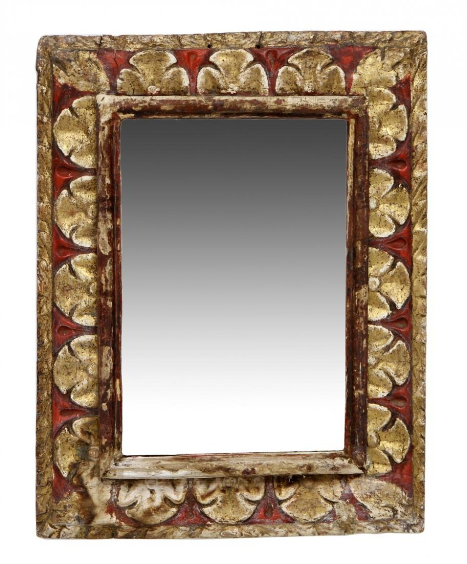 SPANISH BARQUE STYLE GILDED WALL MIRROR