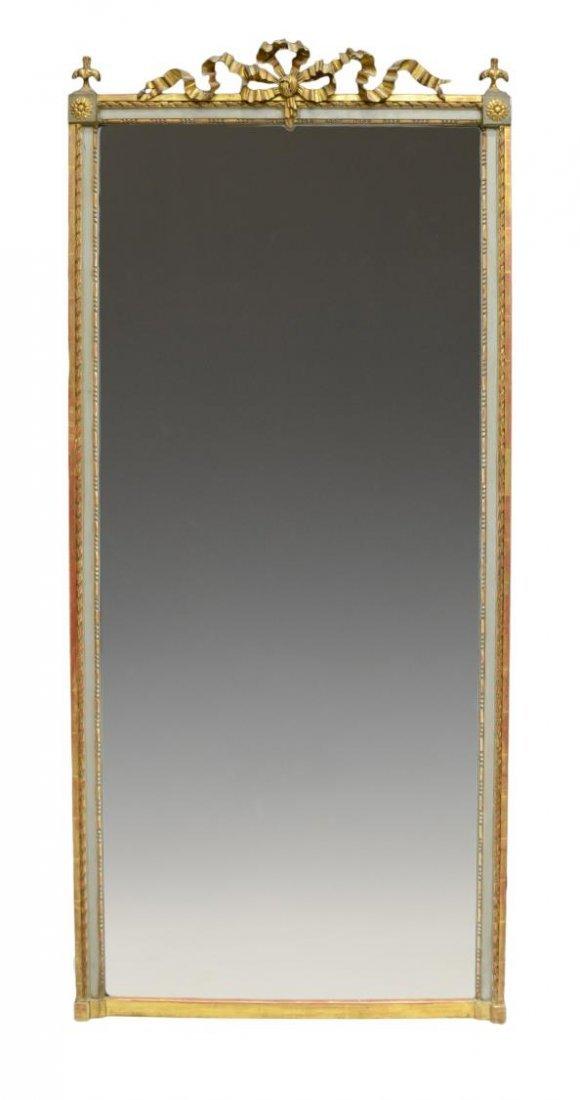 LOUIS XVI STYLE GILTWOOD WALL MIRROR, 19TH C.