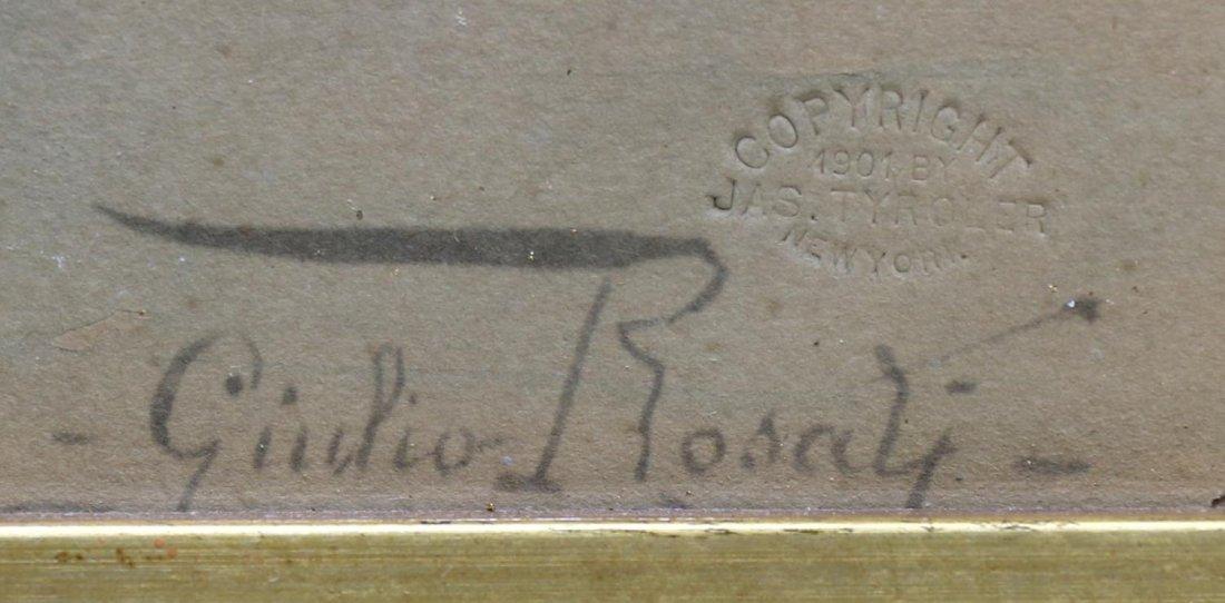 GIULIO ROSATI (1858-1917) ORIENTALIST WATERCOLOR - 3