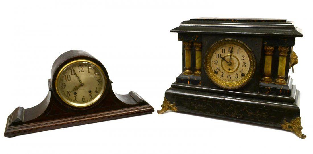 (2) AMERICAN SETH THOMAS MANTLE CLOCKS