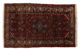 PERSIAN HAMADAN HAND TIED WOOL RUG 43 x 28