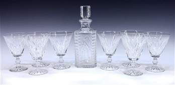 9 COLLECTION WATERFORD CUT CYRSTAL DRINKWARE