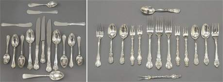 (31) GROUP STERLING SILVER SERVICE & FLATWARE
