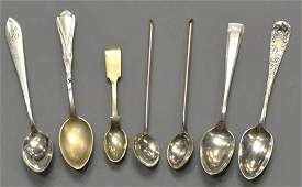 HUGE GROUP STERLING & OTHER COLLECTOR'S SPOONS