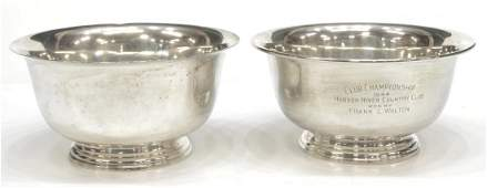 (2) MANCHESTER SILVER CO. STERLING SILVER BOWLS