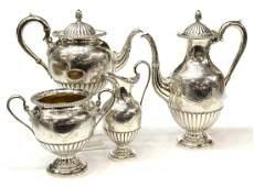 (4) ROBERTS & BELK STERLING COFFEE & TEA SERVICE