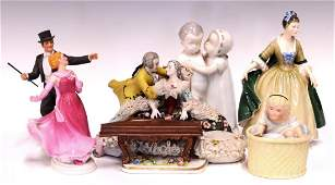 (6) COLLECTION OF ASSORTED PORCELAIN FIGURES
