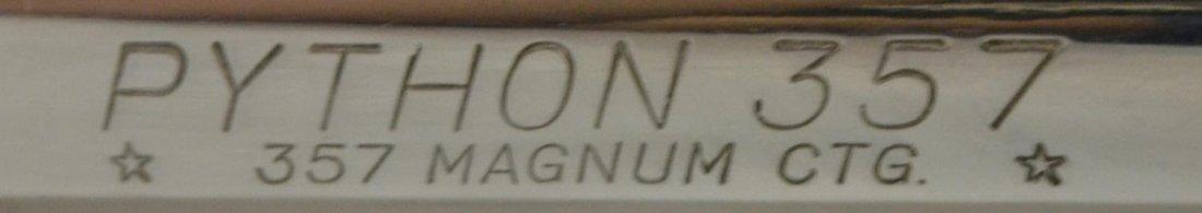 COLT PYTHON NICKEL .357 MAGNUM REVOLVER - 4