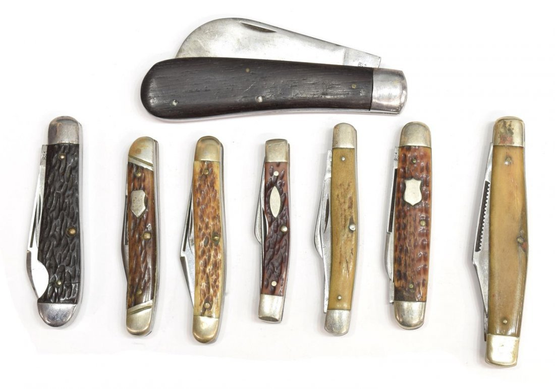 (8) VINTAGE WINCHESTER POCKET KNIVES