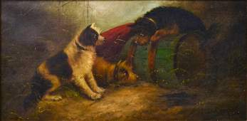 EDWARD GEORGE ARMFIELD (1817-1896), DOG PAINTING