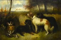 EDWARD GEORGE ARMFIELD (1917-1896) DOG PAINTING