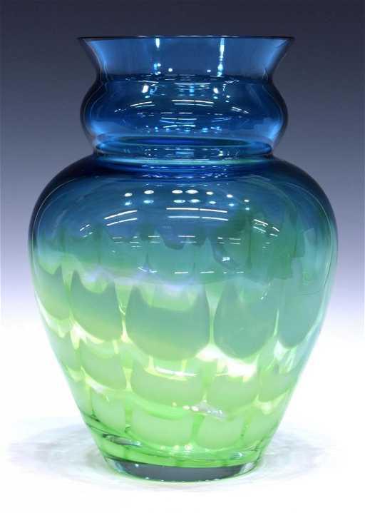 Waterford Evolution Ocean Tide Art Glass Vase
