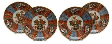(4) JAPANESE IMARI PORCELAIN CABINET PLATES