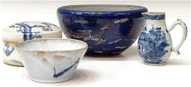 (4) ANTIQUE & VINTAGE ASIAN CERAMIC TABLE OBJECTS