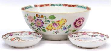 (3) CHINESE EXPORT PORCELAIN SERVICEWARE, 18TH C.