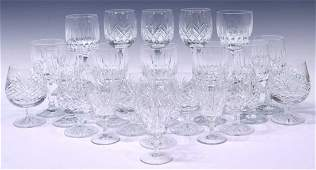 (22) ASSORTED CRYSTAL STEMWARE GROUP