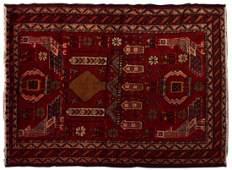 ANTIQUE KAZAK HAND TIED WOOL RUG 68 x 43