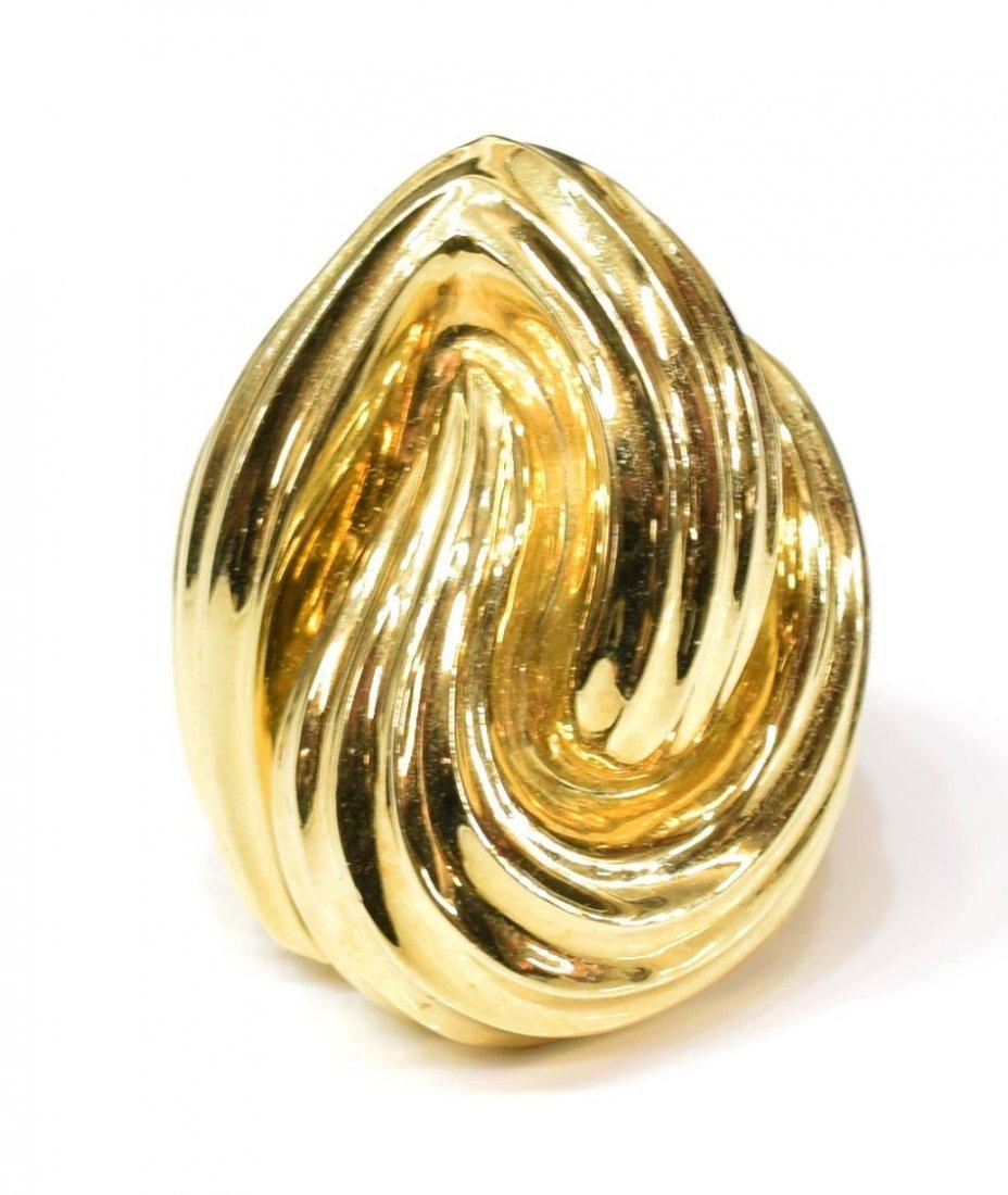 LADIES ESTATE HENRY DUNAY 18K YELLOW GOLD RING