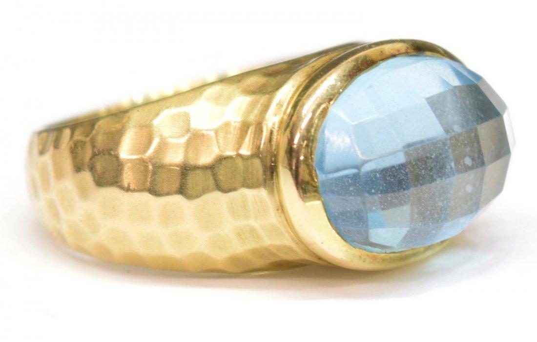 LADIES 14KT GOLD, BLUE TOPAZ ESTATE RING BY MAZ