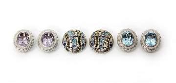 JOHN HARDY 18KT, 925, DIAMOND & GEM EARRINGS