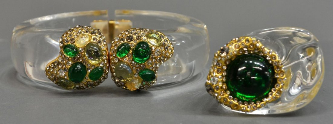 ALEXIS BITTAR MODERNIST LUCITE JEWELRY GROUP