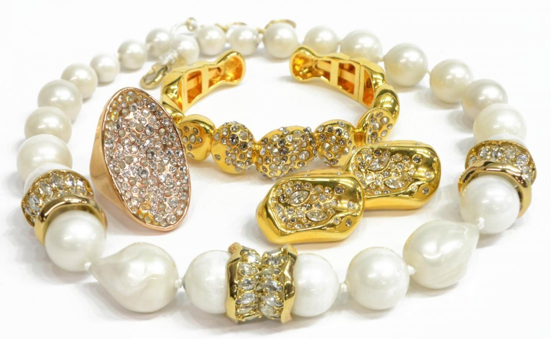 ALEXIS BITTAR FAUX PEARL & CRYSTAL JEWELRY LOT