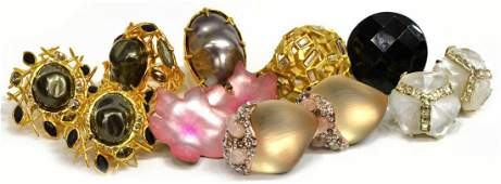ALEXIS BITTAR & OTHER LUCITE & CRYSTAL JEWELRY