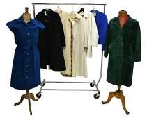 (7) GROUP OF LADIES VINTAGE AND DESIGNER CLOTHING