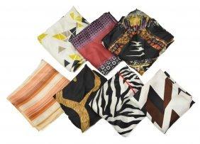 (7) Collection Of Designer Scarves, Etro, Prada