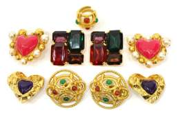 FRENCH SIGNED DESIGNER EARRINGS & RING