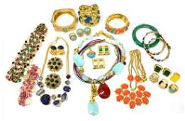 LARGE GROUP CONTEMPORARY COSTUME JEWELRY