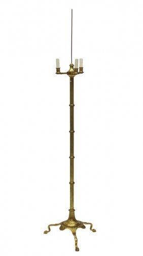 French Empire Gilt Bronze Three-light Floor Lamp
