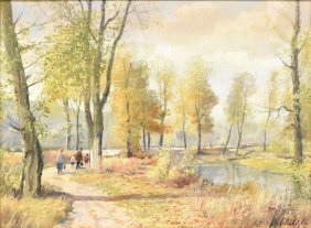 Josef Prochazka (czech 1909-1984) Oil Painting