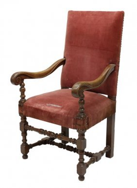 French Baroque Style Fruitwood Armchair