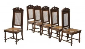 (6) Antique Italian Dining Chairs