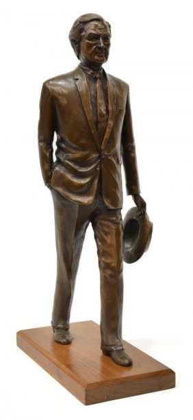John B. Connally Bronze, Signed Sharon Connally