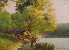 Carroll Collier (texas B. 1923) Landscape Painting