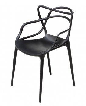 "Kartel ""masters"" Molded Black Plastic Chair"