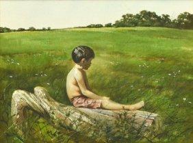 Robert Summers(texas B. 1940) Watercolor Painting