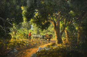 Bill Hughes (arizona 1932-1992) Landscape