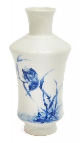 Chinese Blue-white Porcelain Vase, Wang Bu Attrib