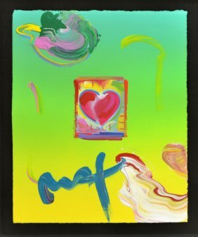Peter Max (american B. 1937) Original Painting