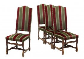 (4) French Baroque Style Upholstered Side Chairs
