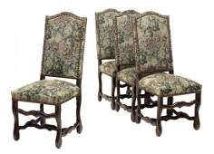 (4) FRENCH LOUIS XIV STYLE DINING CHAIRS