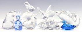 (8) Baccarat Crystal Animal Figures