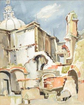 Maude Folmar (austin, Tx 1908-1993) Watercolor