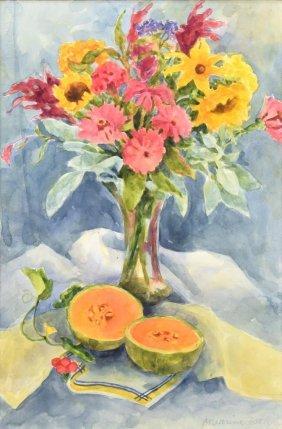Maurine Zook (austin B. 1929) Watercolor
