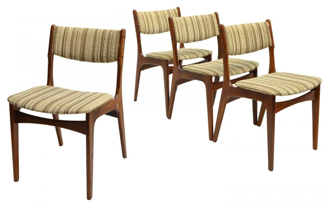 (4) DANISH MID-CENTURY MODERN ROSEWOOD SIDE CHAIRS