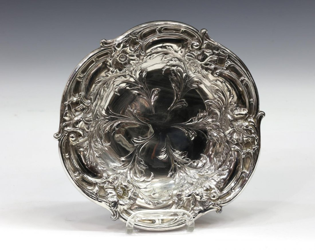 REED & BARTON REPOUSSE STERLING SILVER LOW BOWL