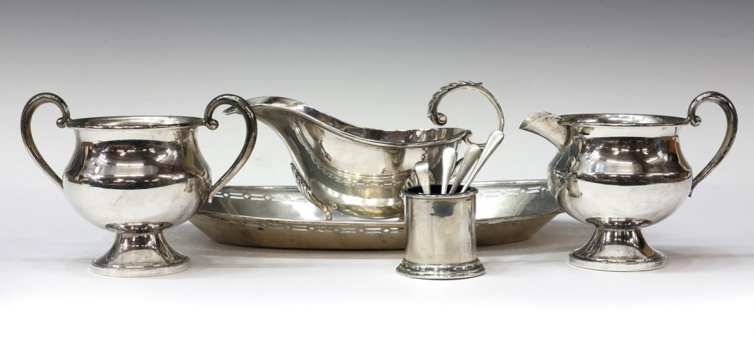 (9) ENGLISH & AMERICAN STERLING SILVER TABLE ITEMS